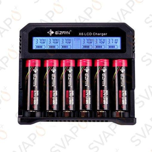 EFAN - X6 LCD caricabatterie con USB e caricabatteria per auto