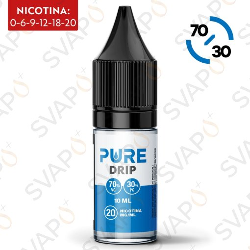BASI - BASI PRONTE - PURE - DRIP BASE NEUTRA 70/30 10 ML NICOTINA 12