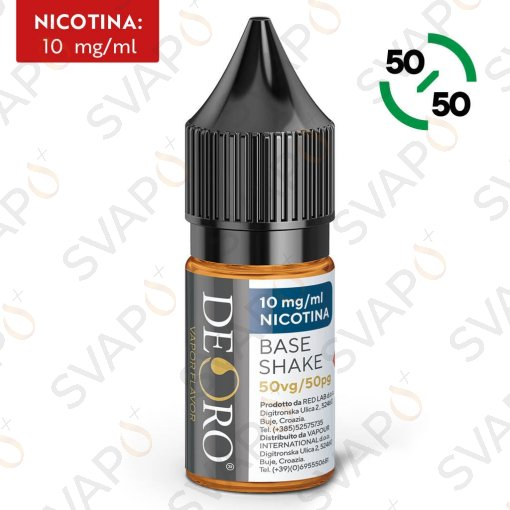 BASI - BASI PRONTE - DEORO - BASE NEUTRA 50/50 - BASE SHAKE 10 ML NICOTINA 10
