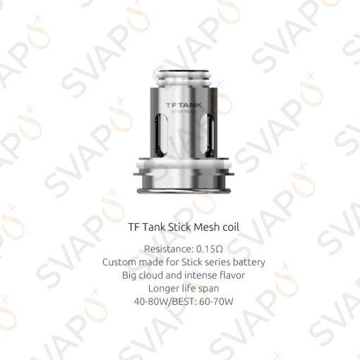 SMOK - 3 Pz MESH COIL PER TF TANK STICK 80W 0.15 OHM