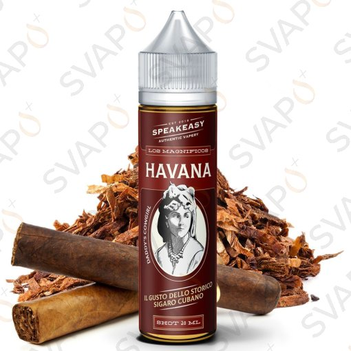 LIQUIDI SCOMPOSTI - SHOT SERIES 20+40 - VAPLO - SPEAKEASY - HAVANA SHOT SERIES 20 ML