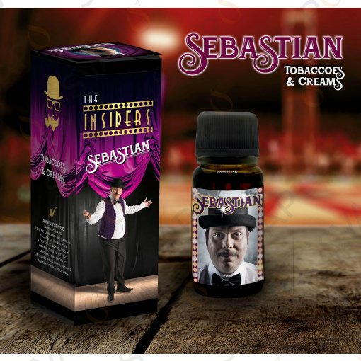 AROMI - AROMI CONCENTRATI 10 ML - THE VAPING GENTLEMEN CLUB  - THE INSIDERS SEBASTIAN AROMA CONCENTRATO 10 ML