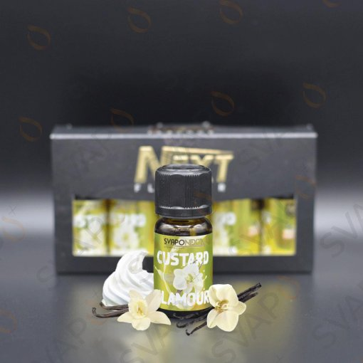 AROMI - AROMI CONCENTRATI 10 ML - SVAPONEXT  - NEXT FLAVOUR CUSTARD GLAMOUR AROMA CONCENTRATO 10 ML