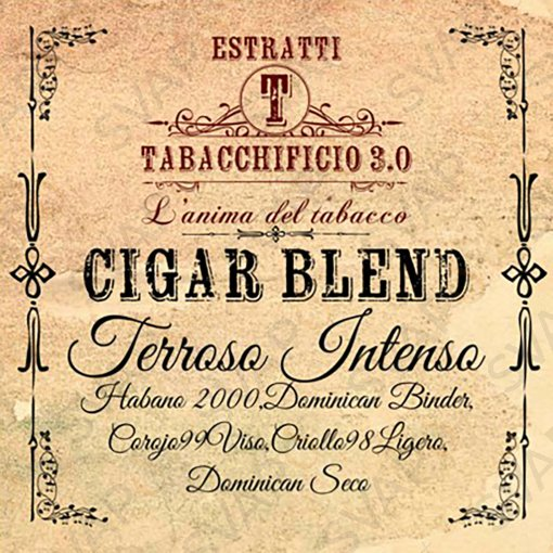 AROMI - AROMI CONCENTRATI 20 ML - TABACCHIFICIO 3.0  - CIGAR BLEND TERROSO INTENSO AROMA CONCENTRATO 20 ML