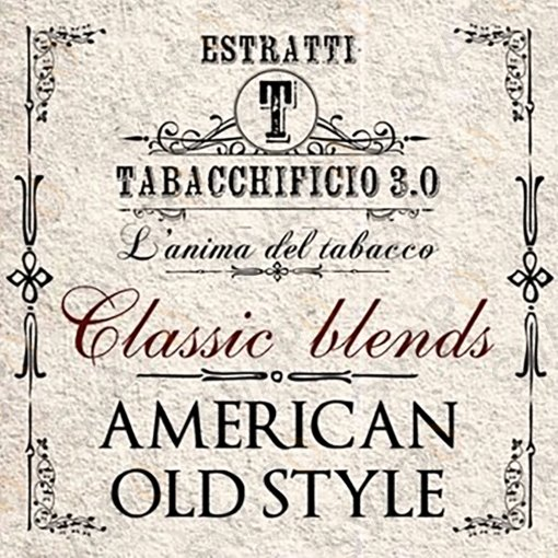 AROMI - AROMI CONCENTRATI 20 ML - TABACCHIFICIO 3.0  - CLASSIC BLENDS AMERICAN OLD STYLE AROMA CONCENTRATO 20 ML