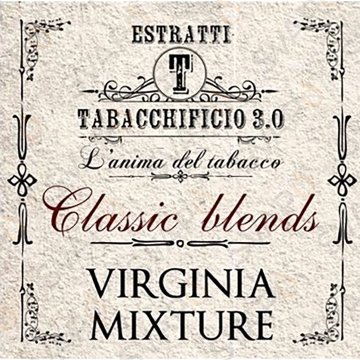AROMI - AROMI CONCENTRATI 20 ML - TABACCHIFICIO 3.0  - CLASSIC BLENDS VIRGINIA MIXTURE AROMA CONCENTRATO 20 ML