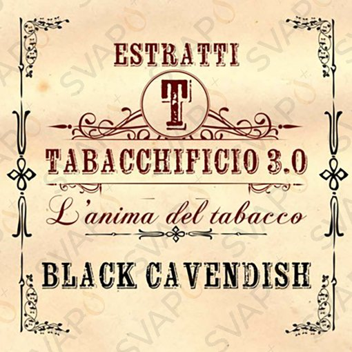 AROMI - AROMI CONCENTRATI 20 ML - TABACCHIFICIO 3.0  - TABACCHI IN PUREZZA BLACK CAVEDISH AROMA CONCENTRATO 20 ML