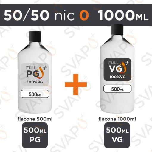SVAPOPIU' - BASE 1000 ML 50/50 - NICOTINA 0