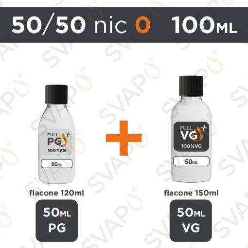 SVAPOPIU' - BASE 100 ML 50/50 - NICOTINA 0