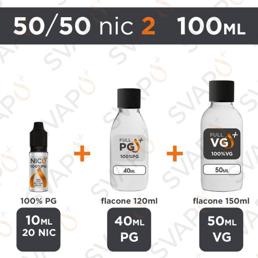 SVAPOPIU' - BASE 100 ML 50/50 - NICOTINA 2