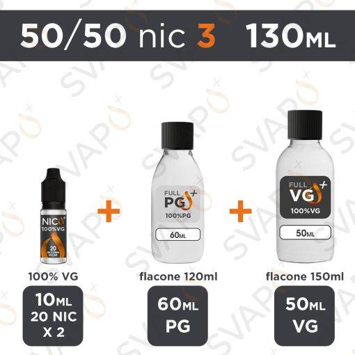 SVAPOPIU' - BASE 130 ML 50/50 - NICOTINA 3