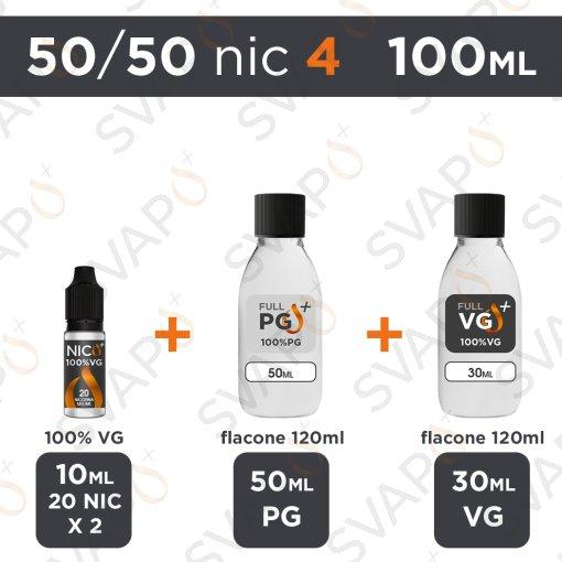 SVAPOPIU' - BASE 100 ML 50/50 - NICOTINA 4