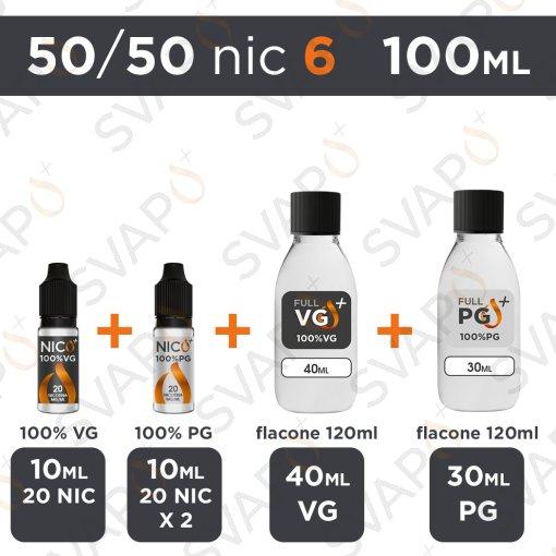 SVAPOPIU' - BASE 100 ML 50/50 - NICOTINA 6