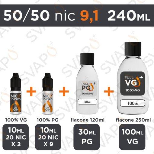SVAPOPIU' - BASE 240 ML 50/50 - NICOTINA 9.1