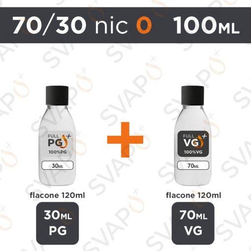 SVAPOPIU' - BASE 100 ML 70/30 - NICOTINA 0