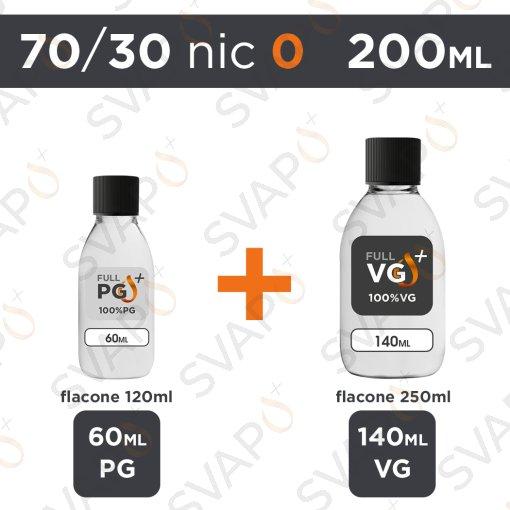SVAPOPIU' - BASE 200 ML 70/30 - NICOTINA 0