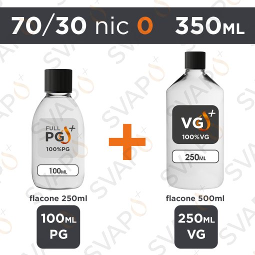 SVAPOPIU' - BASE 350 ML 70/30 - NICOTINA 0
