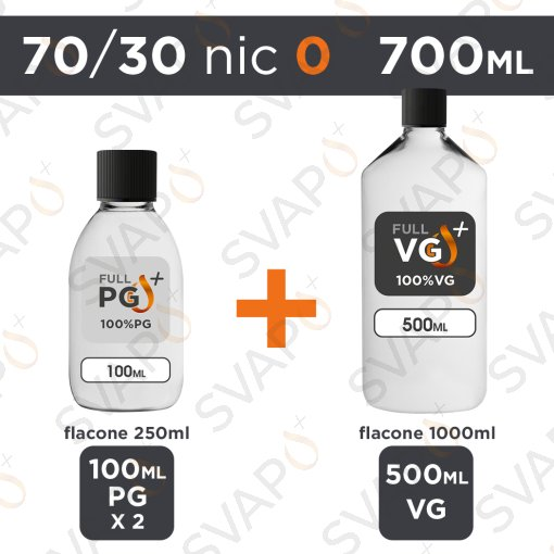 SVAPOPIU' - BASE 700 ML 70/30 - NICOTINA 0