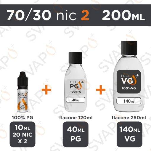 SVAPOPIU' - BASE 200 ML 70/30 - NICOTINA 2
