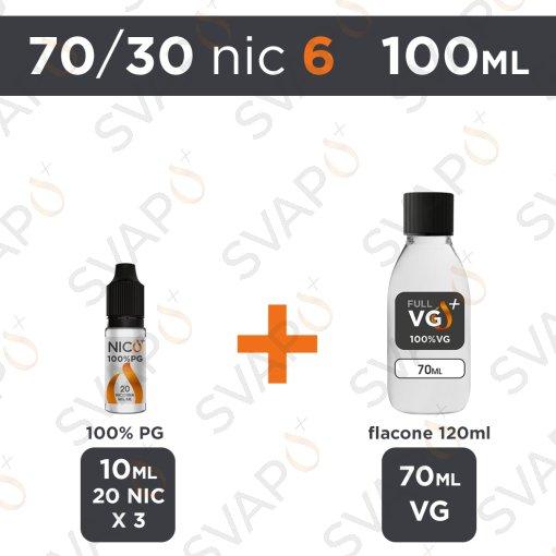 SVAPOPIU' - BASE 100 ML 70/30 - NICOTINA 6