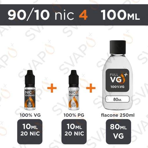 SVAPOPIU' - BASE 100 ML 92/8 - NICOTINA 4