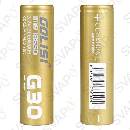 GOLISI - 2PZ BATTERIA G30 18650 3000 MAH  20A