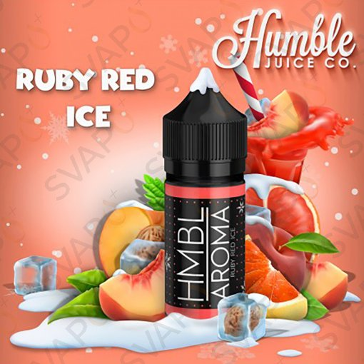 AROMI - AROMI CONCENTRATI 30 ML - HUMBLE JUICE  - RUBY RED ICE AROMA CONCENTRATO 30 ML