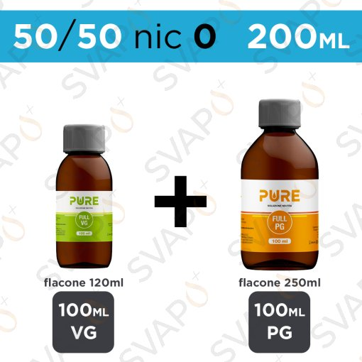 PURE - BASE 200 ML 50/50 - NICOTINA 0
