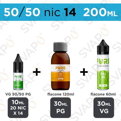 PURE - BASE 200 ML 50/50 - NICOTINA 14