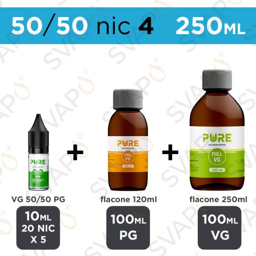 PURE - BASE 250 ML 50/50 - NICOTINA 4