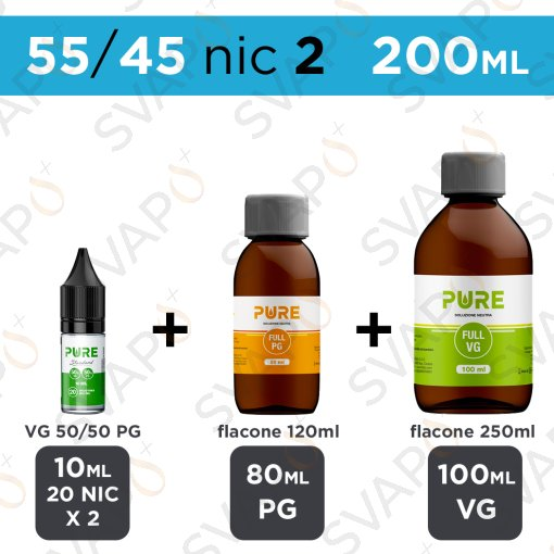 PURE - BASE 200 ML 55/45 - NICOTINA 2