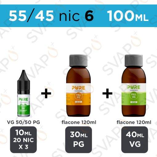 PURE - BASE 100 ML 55/45 - NICOTINA 6