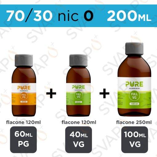 PURE - BASE 200 ML 70/30 - NICOTINA 0