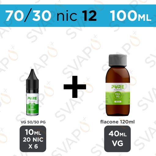 PURE - BASE 100 ML 70/30 - NICOTINA 12