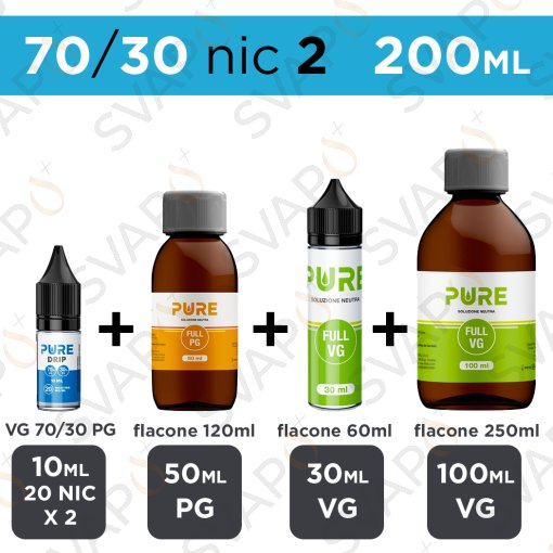 PURE - BASE 200 ML 70/30 - NICOTINA 2