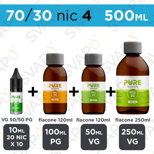 PURE - BASE 500 ML 70/30 - NICOTINA 4