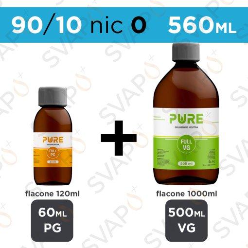 PURE - BASE 560 ML 90/10 - NICOTINA 0