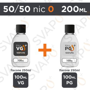 SVAPOPIU' - BASE 200 ML 50/50 - NICOTINA 0