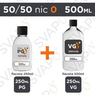 SVAPOPIU' - BASE 500 ML 50/50 - NICOTINA 0