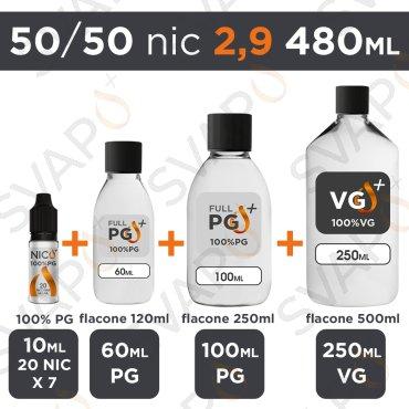 SVAPOPIU' - BASE 480 ML 50/50 - NICOTINA 2.9