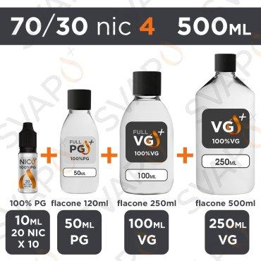 SVAPOPIU' - BASE 500 ML 70/30 - NICOTINA 4