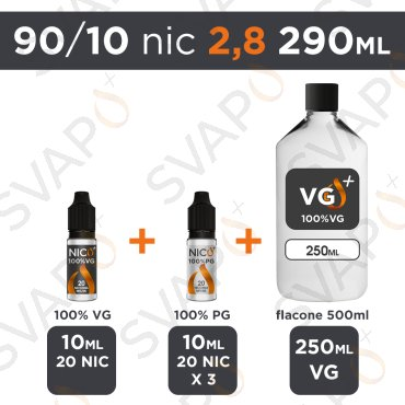 SVAPOPIU' - BASE 290 ML 90/10 - NICOTINA 2.8