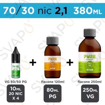 PURE - BASE 380 ML 70/30 - NICOTINA 2.1