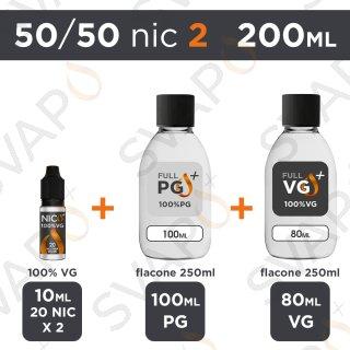 SVAPOPIU' - BASE 200 ML 50/50 - NICOTINA 2