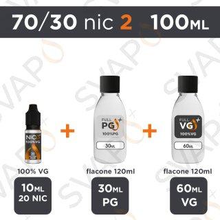 SVAPOPIU' - BASE 100 ML 70/30 - NICOTINA 2
