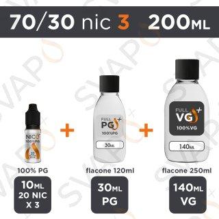 SVAPOPIU' - BASE 200 ML 70/30 - NICOTINA 3