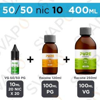 PURE - BASE 400 ML 50/50 - NICOTINA 10