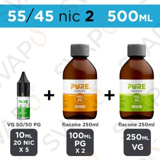 PURE - BASE 500 ML 55/45 - NICOTINA 2