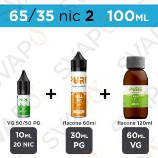 PURE - BASE 100 ML 65/35 - NICOTINA 2