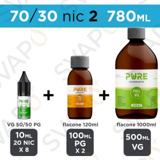 PURE - BASE 780 ML 70/30 - NICOTINA 2